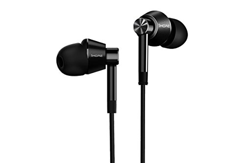 1MORE Dual Driver In Ear Headphones Earphones, Earbuds with Microphone Black Certified Refurbished