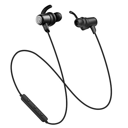 SoundPEATS Magnetic Wireless Earbuds Bluetooth Headphones Sport in-Ear IPX 6 Sweatproof Earphones Super Sound Quality Bluetooth 4.1, 8 Hours Play Time, Secure Fit Design