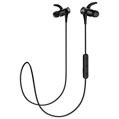 Mpow S8 Bluetooth Earbuds, 9 Hours Playback Magnetic Wireless Headphones w/Mic, IPX7 Waterproof V4.1 Wireless Earbuds, CVC6.0 Noise Cancelling Sport Bluetooth Earphones for Running, Workout, Jogging