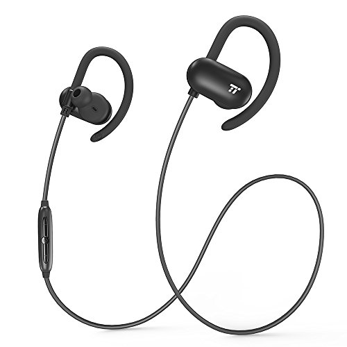 TaoTroncis Bluetooth Headphones, Wireless Earphones Running 12 Hour Music Playtimes, Soft Silicon Earhooks, Inner Nano-Coating Sweat-Proof