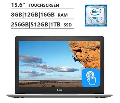 Dell 2019 Premium FHD Inspiron 15 5000 15.6 Inch Touchscreen Laptop 4-Core i5-8250U >i7-7500U, 4GB/8GB/16GB/32GB RAM, 128GB 256GB 512GB 1TB SSD, 2TB HHD, DVD, Windows 10 Black/Blue/Silver