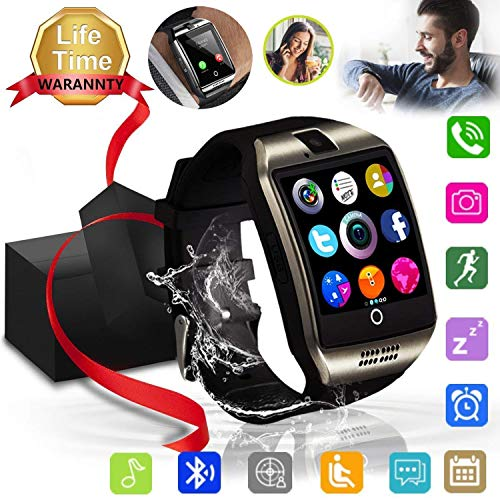 Android Phone Watch – JAVENPROEQT Touch Screen Bluetooth Smart Watch Smartwatch Phone Fitness Tracker SIM SD Card Slot Camera Pedometer Compatible iPhone iOS Samsung LG Android Men Women Kids Black