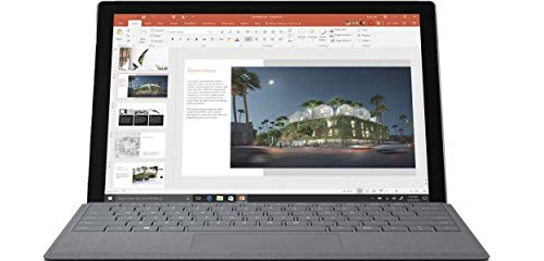 Microsoft Surface Pro 5th Gen 12.3″ PixelSense TouchScreen 2736×1824 2-in-1 Tablet Laptop: Intel Core i5-7200U, 256GB PCIe NVMe SSD, 8GB RAM, Wi-Fi AC MIMO, Windows 10 Pro with Platinum Type Cover
