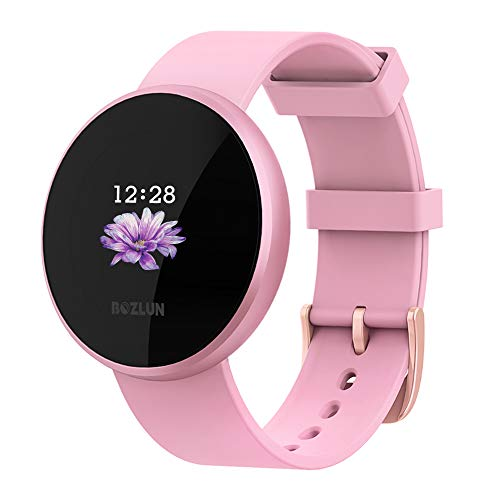 BOZLUN Smart Watch for Android Phones and iPhones, Waterproof Smartwatch Activity Fitness Tracker with Heart Rate Monitor Sleep Tracker Step Counter for Women Pink