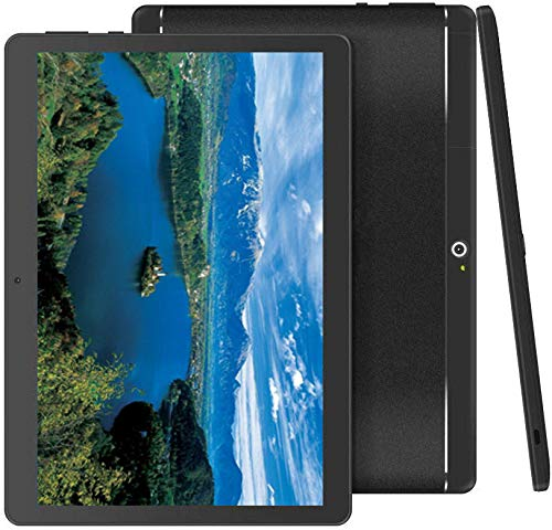 Foren-Tek Android Tablet with SIM Card Slot Unlocked 10 inch -10.1″ IPS Screen Octa Core 4GB RAM 64GB ROM 3G Phablet with WiFi GPS Bluetooth Tablet Black