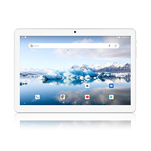 Silver – Android Tablet 10 Inch, 3G Phablet, Android 8.1 Tablets, 2GB+32GB, GMS Certified, Dual SIM Card Slot and Cameras, WiFi, Bluetooth