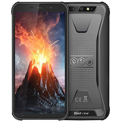 Rugged Cell Phone Unlocked, Blackview BV5500 GSM IP68 Waterproof Smartphone, Android 8.1 3G Dual SIM 5.5″ Quad Core 2GB+16GB,4400mAh Battery MIL-STD 810G Facial Recognition Mobile Phones,Black
