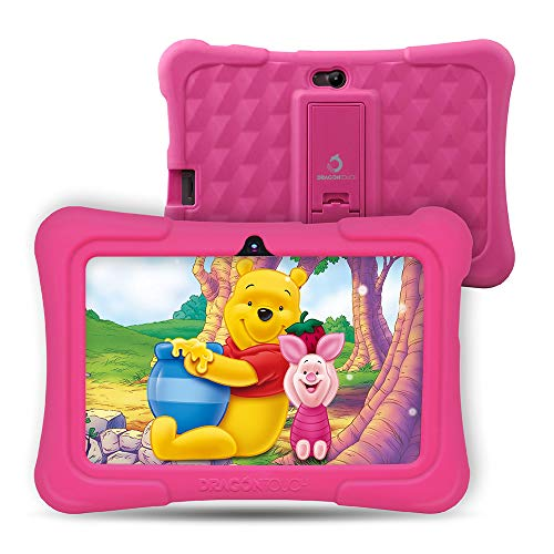 Pink – Upgraded – 2019 New Model – Dragon Touch Y88X Pro 7 inch Kids Tablet, 2GB RAM 16GB Android 9.0 Tablets, Kidoz Pre-Installed with All-New Disney Content WiFi Only