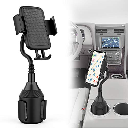 VABSCE Cup Holder Phone Mount Universal Adjustable Gooseneck Cup Holder Cradle Car Mount for Cell Phone, Compatible with iPhone Xs/XS Max/X/8/7/Samsung Galaxy S9/S8/S7/Note8/Note9/Huawei/HTC/LG