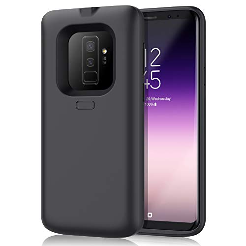 Battery Case for Galaxy S9 Plus 6500mAh, Upgraded Rechargeable Charging Battery Pack for Samsung Galaxy S9 Plus Protective Portable Extended Backup Charger Case for S9+ Power Bank Cover Not S9