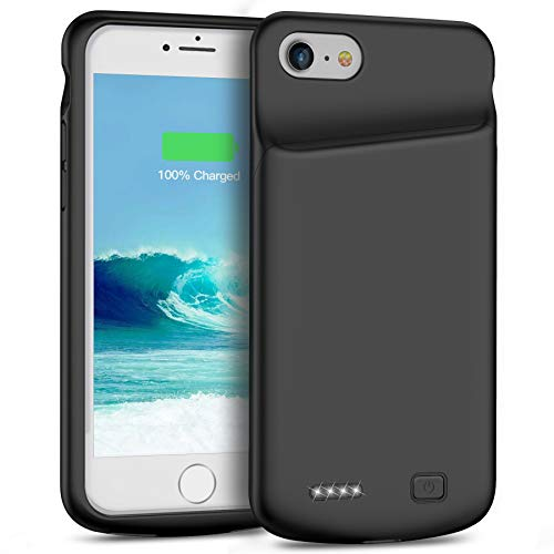 Smiphee Battery Case for iPhone 6 6s, 4500mAh Portable ProtectiveCharging Case Compatible with iPhone 6 6s4.7 inch Extended Battery Charger Case Black