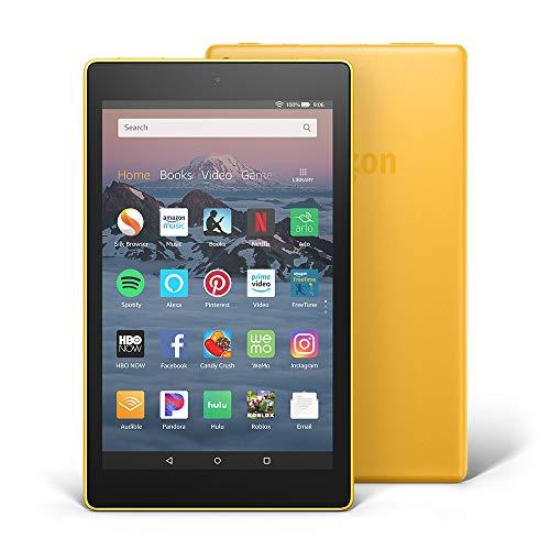 Yellow – Fire HD 8 Tablet 8″ HD Display, 16 GB