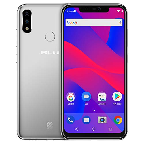 6.2″ Full HD+ Smartphone GSM Unlocked and Verizon Compatible, 128GB+6GB RAM, AI Dual Cameras -Silver – BLU VIVO XI+