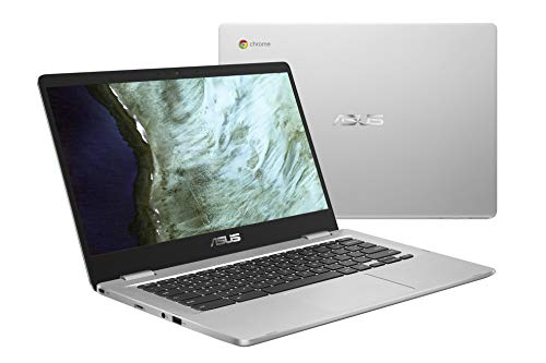 ASUS Chromebook C423NA-DH02 14.0″ HD NanoEdge display, 180 Degree, Intel Dual Core Celeron Processor, 4GB RAM, 32GB eMMC storage, silver color