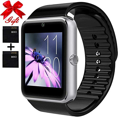 Smart Watch for Android Phones with SIM Card Slot Camera, Bluetooth Watch Phone Touchscreen Compatible iOS Phones, Smart Fitness Watch with Sleep Monitor sedentary Reminder for Men Women Kids