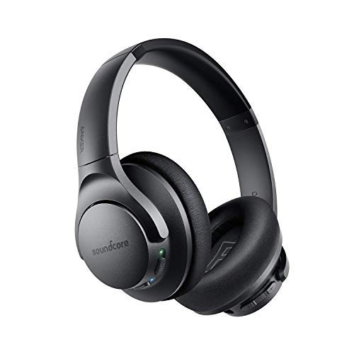 Anker Soundcore Life Q20 Bluetooth Headphones, Hybrid Active Noise Cancelling, 30H Playtime, Hi-Res Audio, Deep Bass, Memory Foam Ear Cups and Headband, Wireless Over Ear Headphones for Travel, Work