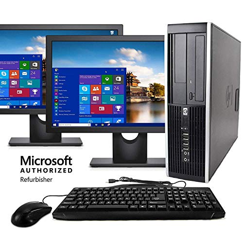 Desktop Computer Package Compatible With HP Elite Intel Quad Core i5 3.2GHz, 8GB RAM, 1TB Hard Drive, DVD-RW, 19 Inch LCD Monitor, Keyboard, Mouse, New Periphio WiFi Adapter, Windows 10 Renewed