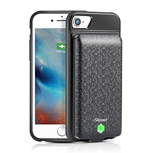 Openuye Battery Case for iPhone 8 Plus/7 Plus/6s Plus/6 Plus, 5000mAh Portable Charger Case with Detachable Battery Pack Rechargeable Extended Battery Charging Case Black, 5.5 inch