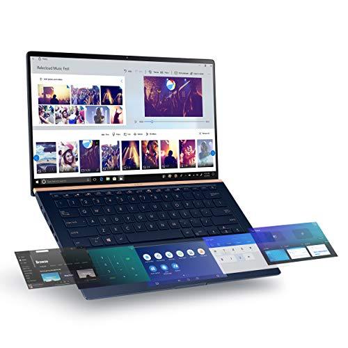 ASUS ZenBook 14 Ultra-Slim Laptop 14″ Full HD NanoEdge Bezel, Intel Core i7-8565U, 16GB RAM, 512GB PCIe SSD, GeForce MX250, Innovative Screenpad 2.0, Windows 10 Pro, UX434FL-DB77, Royal Blue