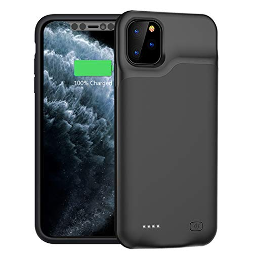 Battery Case for iPhone 11 Pro, 5200mAh Portable Protective Charging Case Compatible with iPhone 11 Pro 5.8 inch Rechargeable Extended Battery Charger Case Black