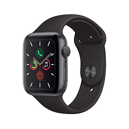 Space Gray Aluminum Case with Black Sport Band – Apple Watch Series 5 GPS, 44mm