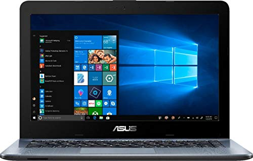 2019 ASUS 14″ Premium High Performance Laptop Computer| AMD A6-9225 up to 3.0GHz| 4GB DDR4 RAM| 500GB HDD| AMD Radeon R4| WiFi| Bluetooth| USB 3.1 Type-C| HDMI| Silver Gradient| Windows 10 Home|