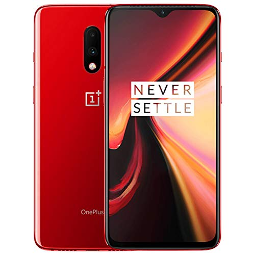 OnePlus 7 GM1900 256GB, 6.41 inches, Dual SIM, 8GB, Dual Main Camera 48MP+5MP, GSM Unlocked International Model, No Warranty Red