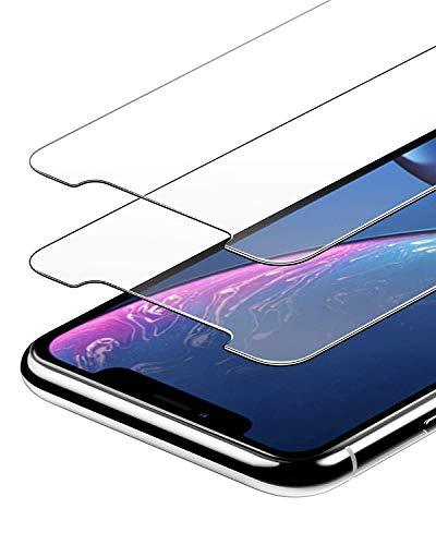 Anker GlassGuard Screen Protector for iPhone XR 2018 with Alignment Frame for Easy, Bubble-Free Installation and Double Defence Tempered Glass Case Friendly 2-Pack