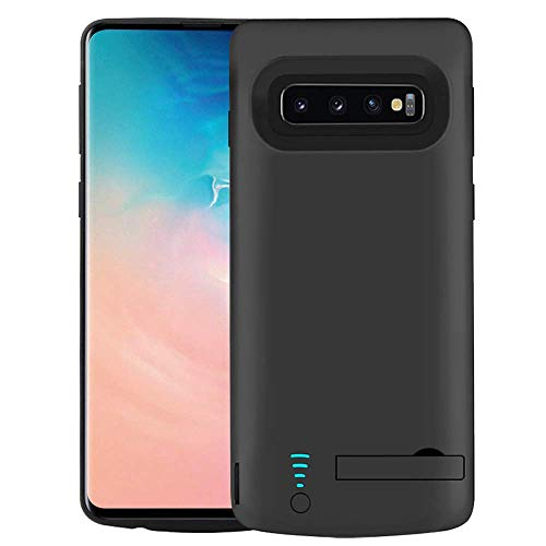 RUNSY Battery Case Compatible with Samsung Galaxy S10+ Plus, 6000mAh Rechargeable Extended Battery Charging Case, External Battery Charger Case, Adds 1.5X Extra Juice 6.4 inch for Galaxy S10+