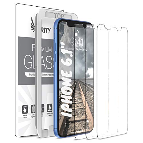 Purity Screen Protector for Apple iPhone 11 and iPhone XR – 3 Pack w/Installation Frame Tempered Glass Screen Protector Compatible iPhone 11 / iPhone XR 3 Pack Anti-Scratch Fit with Most Cases