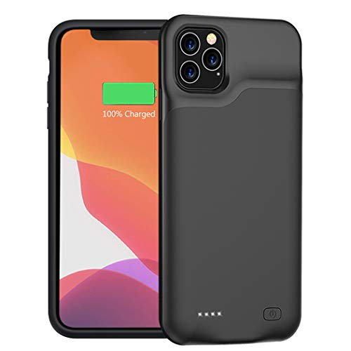 Battery Case for iPhone 11 Pro Max, 6500mAh Portable Protective Charging Case Compatible with iPhone 11 Pro Max 6.5 inch Rechargeable Extended Battery Charger Case Black