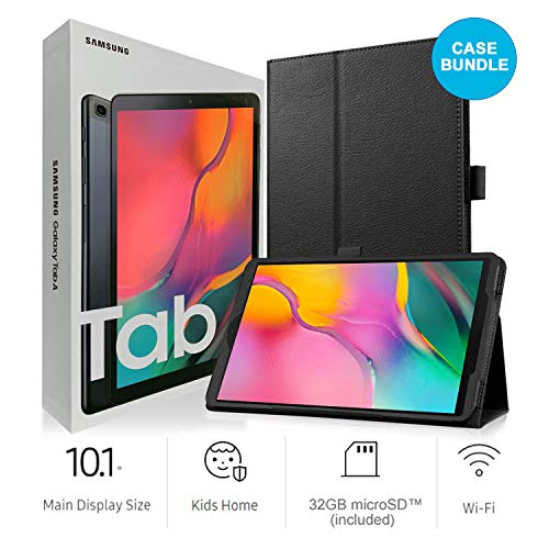 Samsung Galaxy Tab A SM-T510 10.1-Inch Touchscreen 32 GB Tablet 2 GB Ram, Wi-Fi, Android OS, Black International Version Bundle with Case, Screen Protector, Stylus and 32GB microSD Card