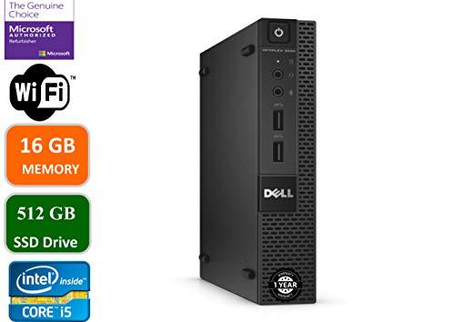 Dell Optiplex 9020 Ultra Small Tiny Desktop Micro Computer PC Intel Core i5-4570T, 16GB Ram, 512GB Solid State SSD, WiFi, Bluetooth, HDMI Win 10 Pro Renewed