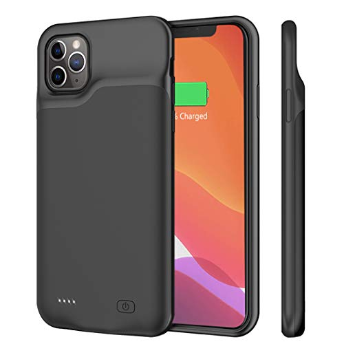 Battery Case for iPhone 11 Pro Max, 6500mAh Portable Rechargeable Battery Pack Charging Case for iPhone 11 Pro Max 6.5 inch Extended Battery Charger Case Backup Power Bank Black