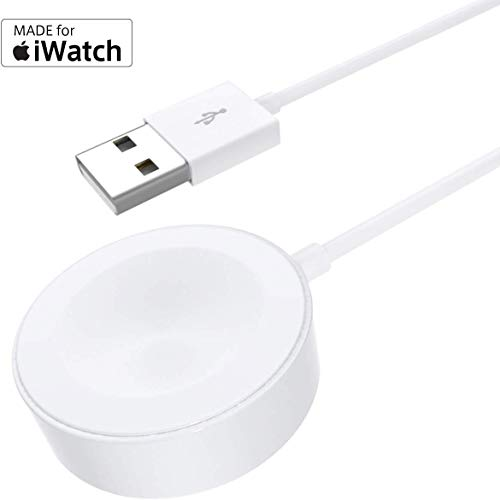 Watch Charger Charging Cable MFi Certified Magnetic Wireless Portable Charger Charging Cable Cord Compatible for Apple Watch Series 4 3 2 1