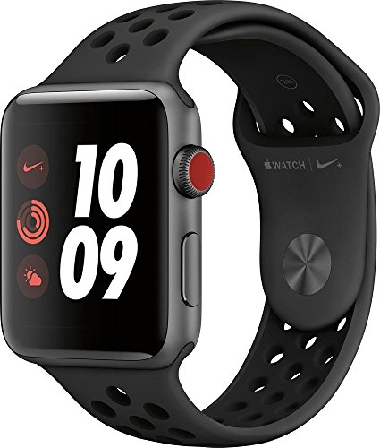 42mm Renewed – Apple Watch Series 3 Nike+ – Space Gray Aluminum Case with Anthracite/Black Nike Sport Band – GPS+Cellular