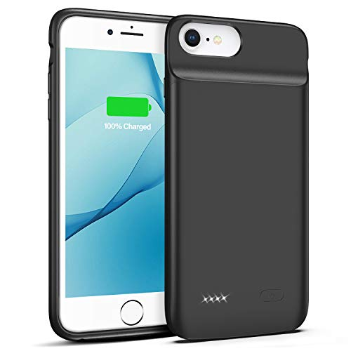 Battery Case for iPhone 6 Plus 6s Plus, 5000mAh Portable Rechargeable Charging Case for iPhone 6 Plus 6s Plus 5.5 inch Protective Power Charging CaseBlack