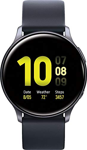 Samsung Galaxy Watch Active2 Silicon Strap + Aluminum Bezel Bluetooth – International Aqua Black, R820-44mm